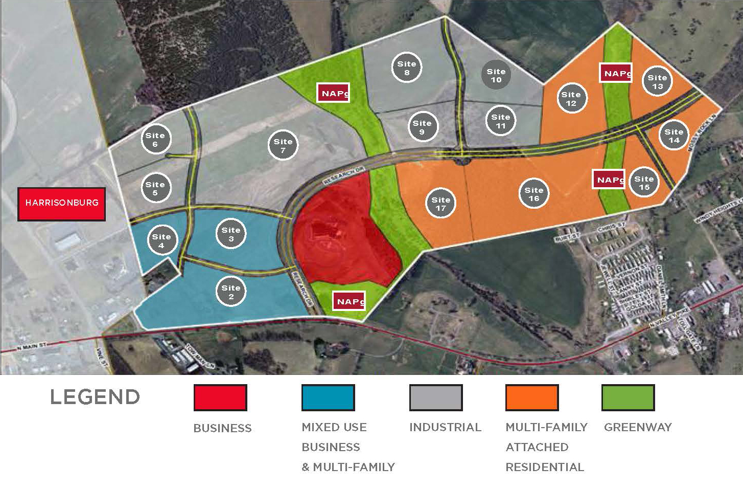 Innovation Village @ Rockingham County, Virginia | Mixed Use Land Development for Sale