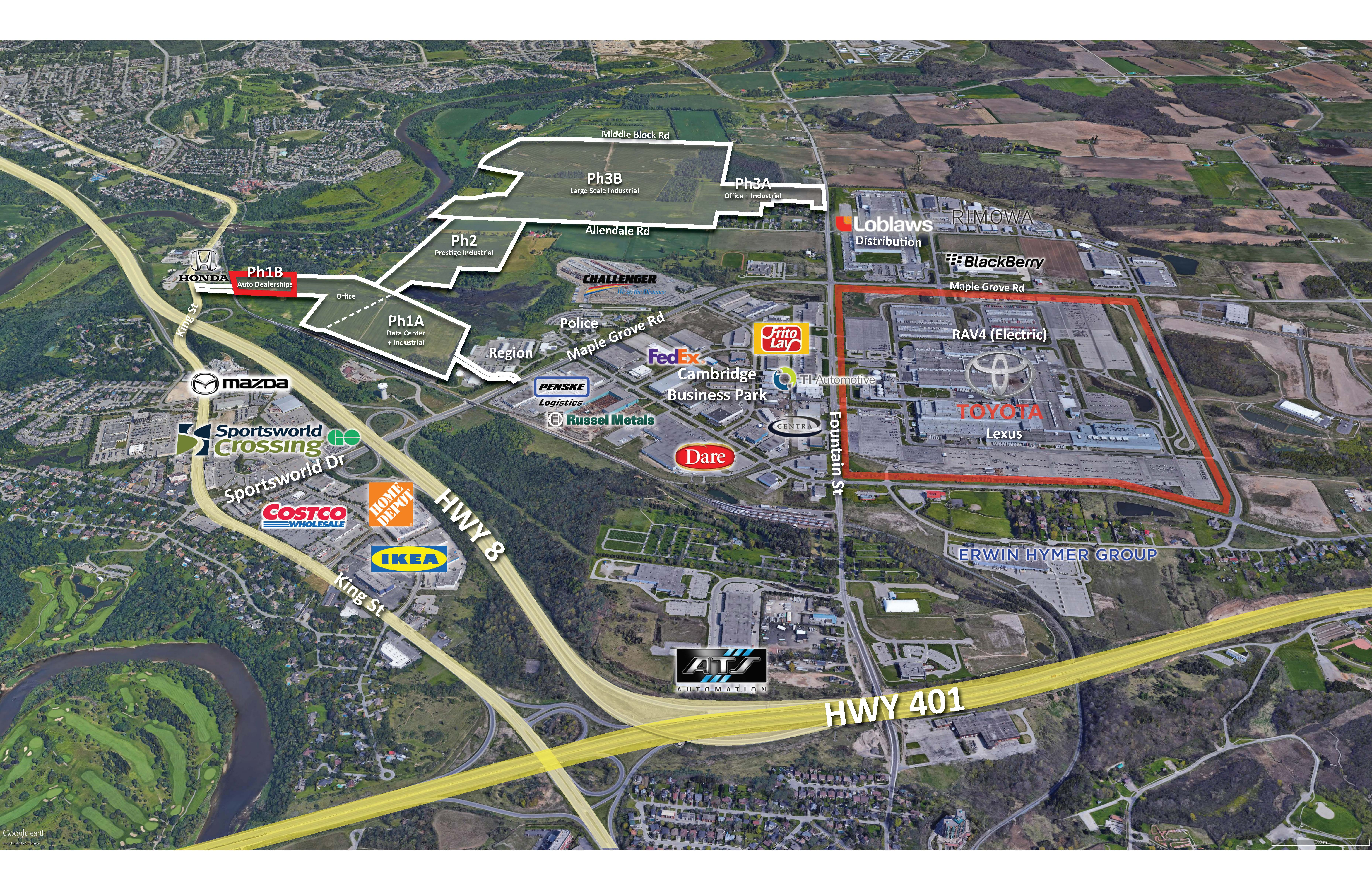 IP Park Business Campus | Automotive Dealership Land Available