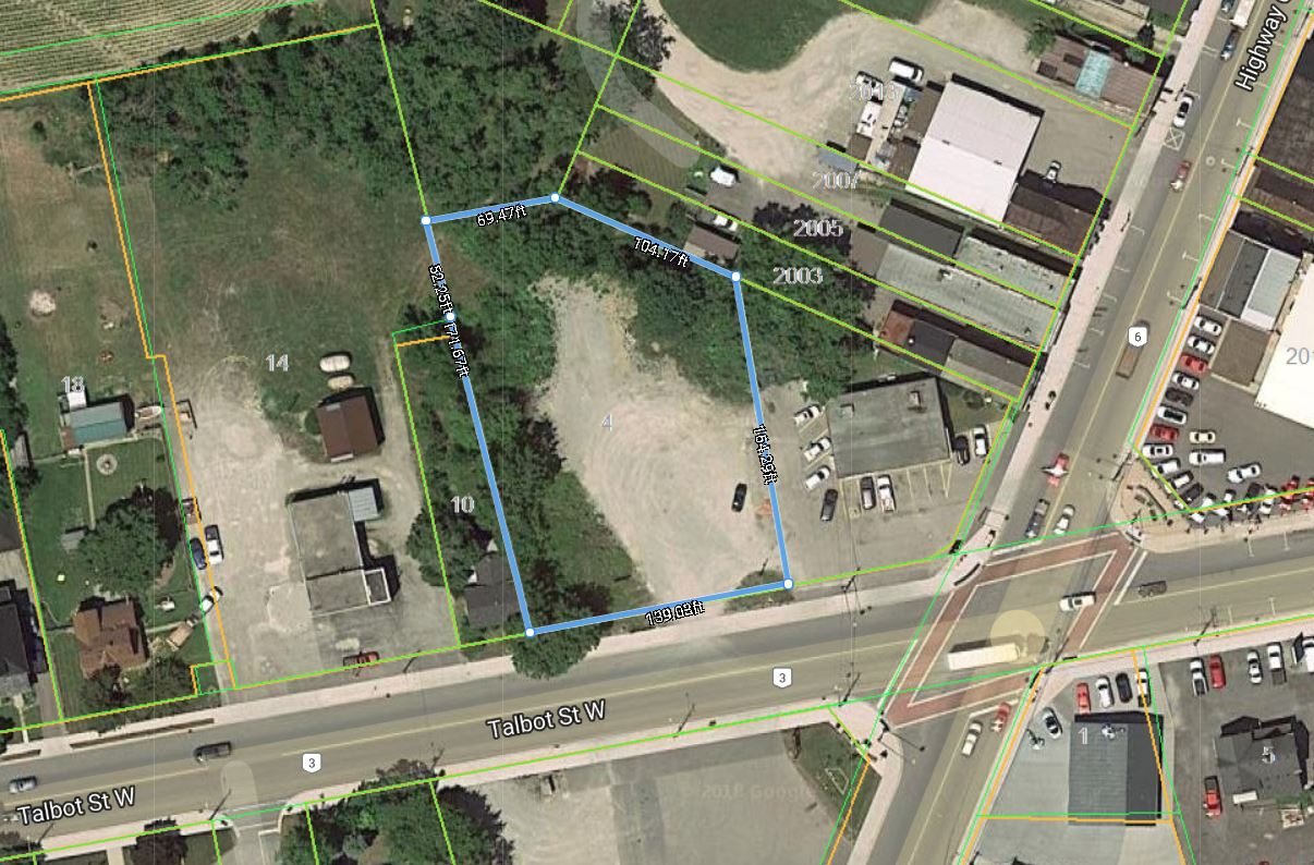 4 Talbot Street W, Jarvis   Commercial-Retail Lot for Sale