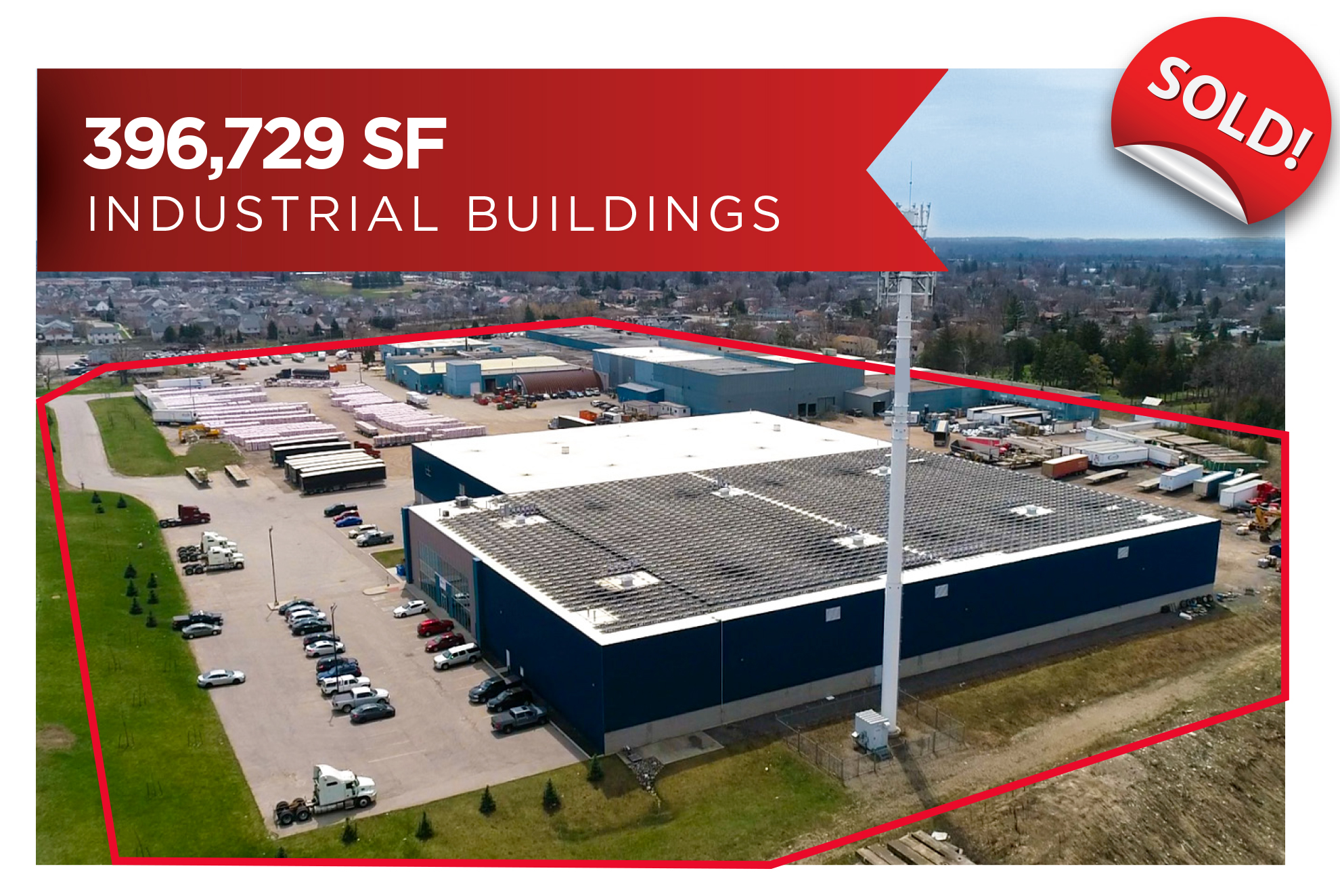 Industrial Buildings Investment on 29.64 acres | Cambridge, ON