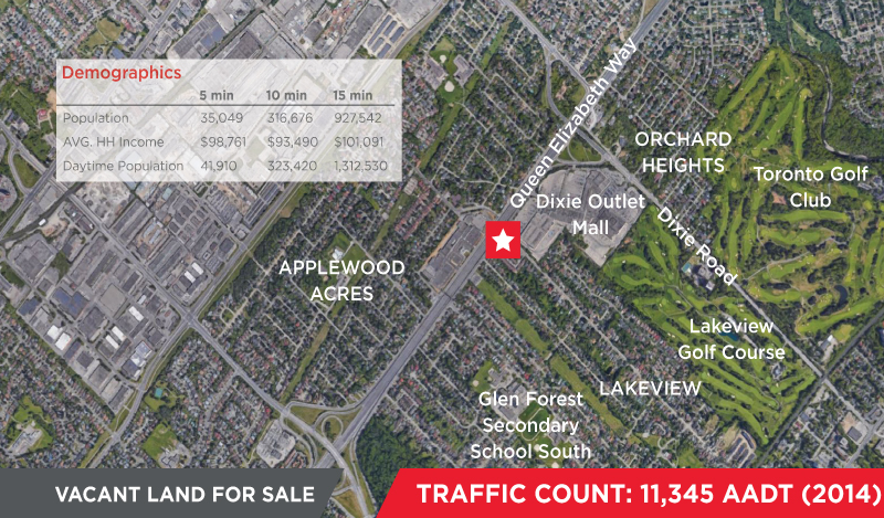1160 South Service Road, Mississauga | Vacant Land for Sale
