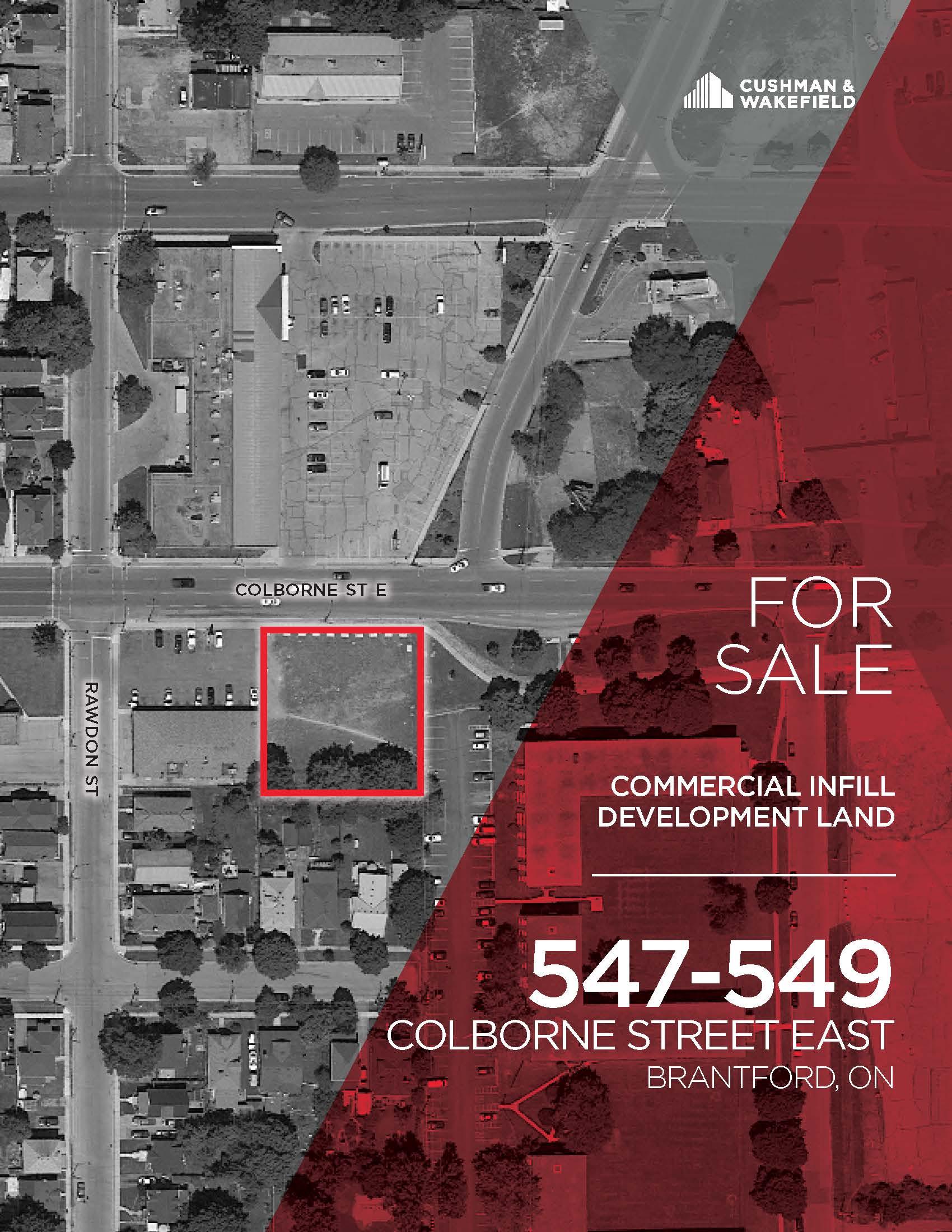 547-549 Colborne Street East, Brantford | Commercial Infill Development Land for Sale
