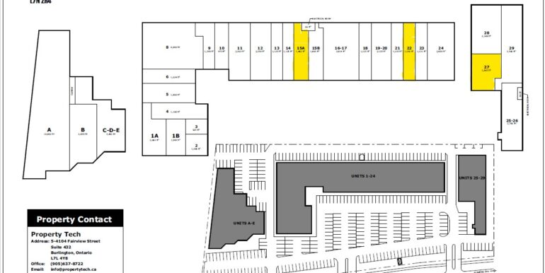Site Plan with available units 3455 Fiarview