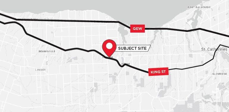 3373-3381 King Street Map
